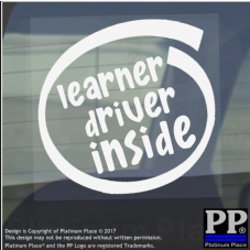 1 x Learner Driver Inside-Window,Car,Van,Sticker,Sign,Vehicle,Adhesive,Pass,Box